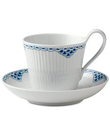 Royal Copenhagen Princess High Handle Cup & Saucer