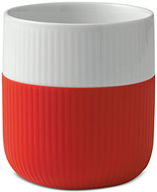 Royal Copenhagen Scarlett Red Fluted Contrast Mug