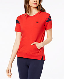 Tommy Hilfiger Sport Short Sleeve Kangaroo-Pocket Sweatshirt, Created for Macy's
