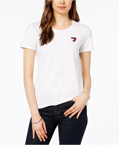 9b367ba3 Tommy Hilfiger Heart Logo T-Shirt, Created for Macy's & Reviews ...