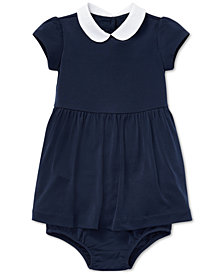 Ralph Lauren Baby Girls Stretch Dress & Bloomer