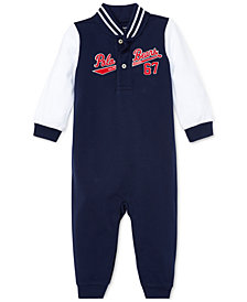 Ralph Lauren Baby Boys Cotton Mesh Baseball Coverall