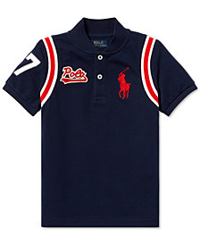 Polo Ralph Lauren Little Boys Cotton Mesh Baseball Shirt