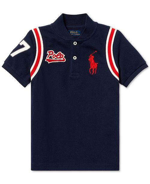 Polo Ralph Lauren Toddler Boys Cotton Mesh Baseball Shirt - Shirts ... f91272d8094