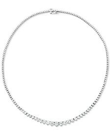 "Diamond Fancy 16-3/4"" Collar Necklace (10 ct. t.w.) in 14k White Gold"