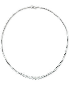 "Diamond Fancy 16-3/4"" Collar Necklace (10 ct. t.w.) in 14k Gold"