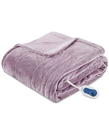 "Beautyrest Heated 60"" x 70"" Plush Throw"