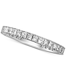 Diamond Princess Eternity Band (1 ct. t.w.) in 14k White Gold