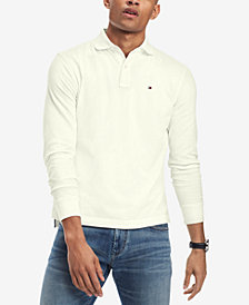 Tommy Hilfiger Men's Long-Sleeve Classic-Fit Polo, Created for Macy's