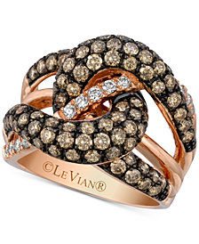 Le Vian Chocolatier® Gladiator Knots™ Diamond Knot Ring (2-1/2 ct. t.w.) in 14k Rose Gold