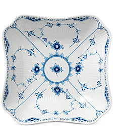 Royal Copenhagen Blue Fluted Half Lace Square Bowl