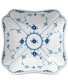 Royal Copenhagen Blue Fluted Half Lace Square Bowl