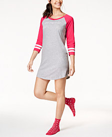 Jenni Striped-Cuff Sleepshirt & Sock Set, Created for Macy's
