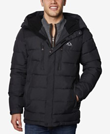 Halifax Men's Big & Tall Quilted Hooded Ski Jacket