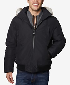 Halifax Men's Snorkel Bomber Jacket with Faux-Fur Trim