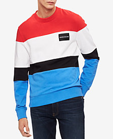 Calvin Klein Jeans Men's Colorblocked Logo Sweatshirt