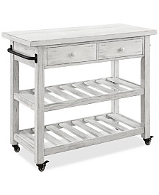Orchard Park Two-Drawer Kitchen Cart, Quick Ship