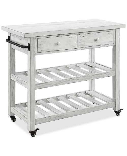Coast to Coast Orchard Park Two-Drawer Kitchen Cart