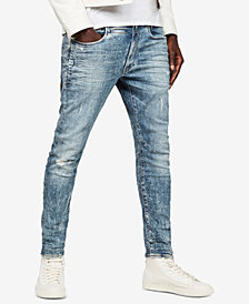 G-Star RAW Men's D-Staq 3D Skinny-Fit Stretch Destroyed Jeans, Created for Macy's