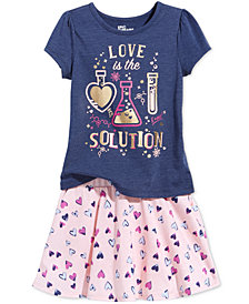 Epic Threads Little Girls Graphic-Print T-Shirt & Scooter Skirt, Created for Macy's