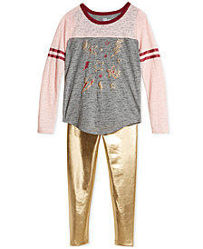Epic Threads Big Girls T-Shirt & Faux-Leather Leggings, Created for Macy's
