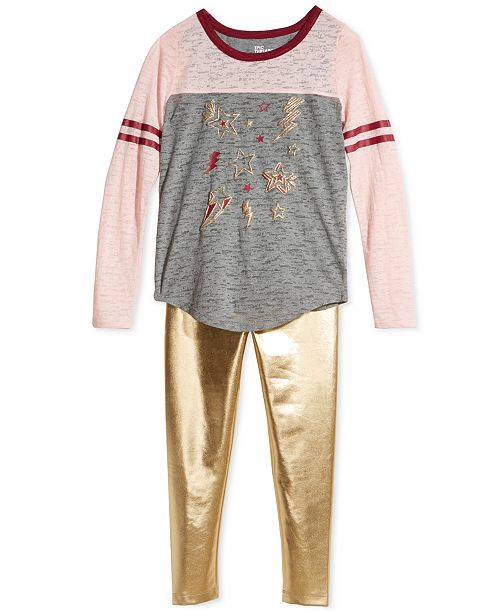 b6f2e7be25312 Epic Threads Big Girls T-Shirt & Faux-Leather Leggings, Created for Macy's