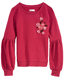 Epic Threads Big Girls Graphic-Print Floral Sweatshirt, Created for Macy's