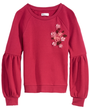 Epic Threads Big Girls GraphicPrint Floral Sweatshirt Created for Macys
