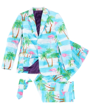 Vintage Style Children's Clothing: Girls, Boys, Baby, Toddler OppoSuits Big Boys 3-Pc. Flaminguy Suit  Tie Set $79.99 AT vintagedancer.com