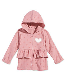 First Impressions Baby Girls Heart Ruffle Hoodie, Created for Macy's