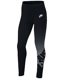 Nike Big Girls Sportswear Logo-Print Leggings