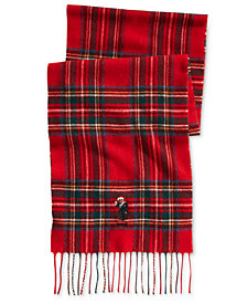 Polo Ralph Lauren Men's Blackwatch Plaid Bear Scarf
