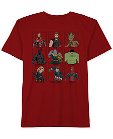 Marvel Big Boys The Avengers Graphic-Print Cotton T-Shirt