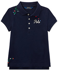 Polo Ralph Lauren Toddler Girls Embroidered Stretch Polo