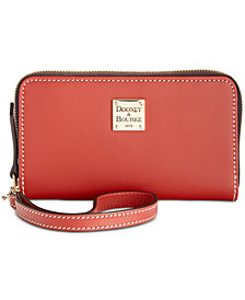 Dooney & Bourke Beacon Zip Around Smooth Leather Wristlet