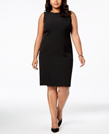Kasper Plus Size Sleeveless Sheath Dress