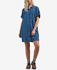 Volcom Juniors' Yo Shortie Chambray Shirtdress