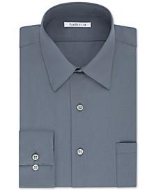 Men's Big & Tall Classic/Regular Fit Wrinkle Free Poplin Solid Dress Shirt