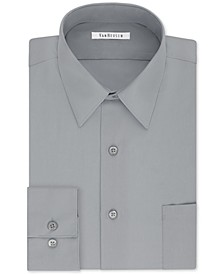 Men's Classic/Regular Fit Wrinkle Free Poplin Solid Dress Shirt