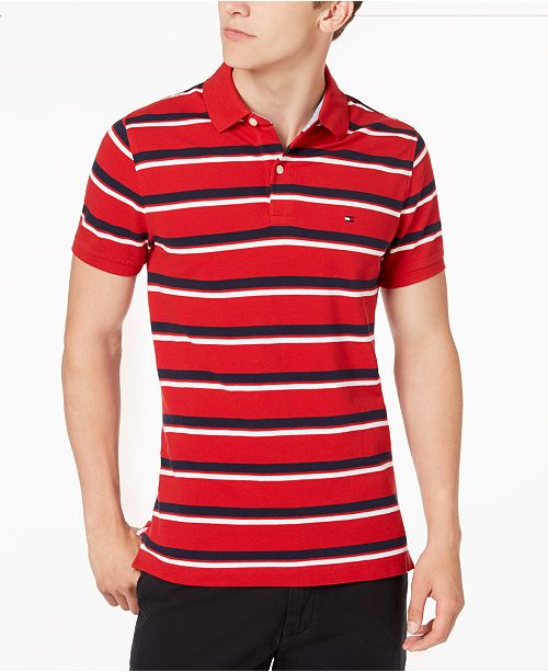 Tommy Hilfiger Men's Striped Slim Fit Polo, Created for