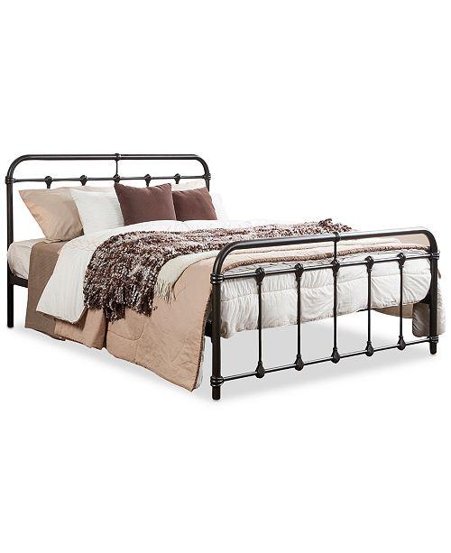 BLUSH & BRASS Full Arden Bed, Quick Ship