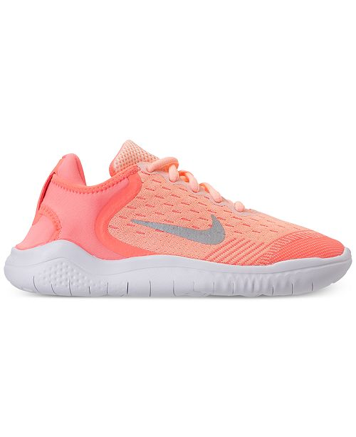 ae1547e75d2 Nike Little Girls  Free RN 2018 Running Sneakers from Finish Line ... nike