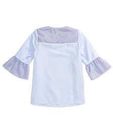 Monteau Big Girls Striped Sleeve Top