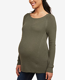 Motherhood Maternity Crewneck Sweater