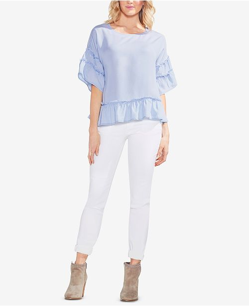 Breeze Vince Camuto Ruffled Top Lake f78Waqf