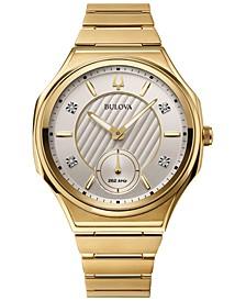 Women's Curv Progressive Sport Gold-Tone Stainless Steel Bracelet Watch 40.5mm