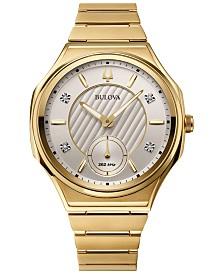 Bulova Women's Curv Progressive Sport Gold-Tone Stainless Steel Bracelet Watch 40.5mm
