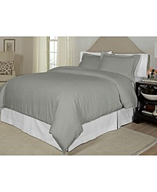 Printed Twin Duvet Set, 300 Thread Count Cotton Sateen