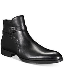 AlfaTech by Alfani Men's Ansell Double Buckle Boots, Created for Macy's