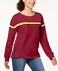 Hippie Rose Juniors' Striped Sweatshirt